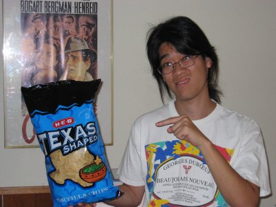 Texas-shaped chips